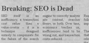 SEO is DEAD